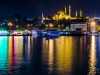 Istanbul by night, from galata bridge