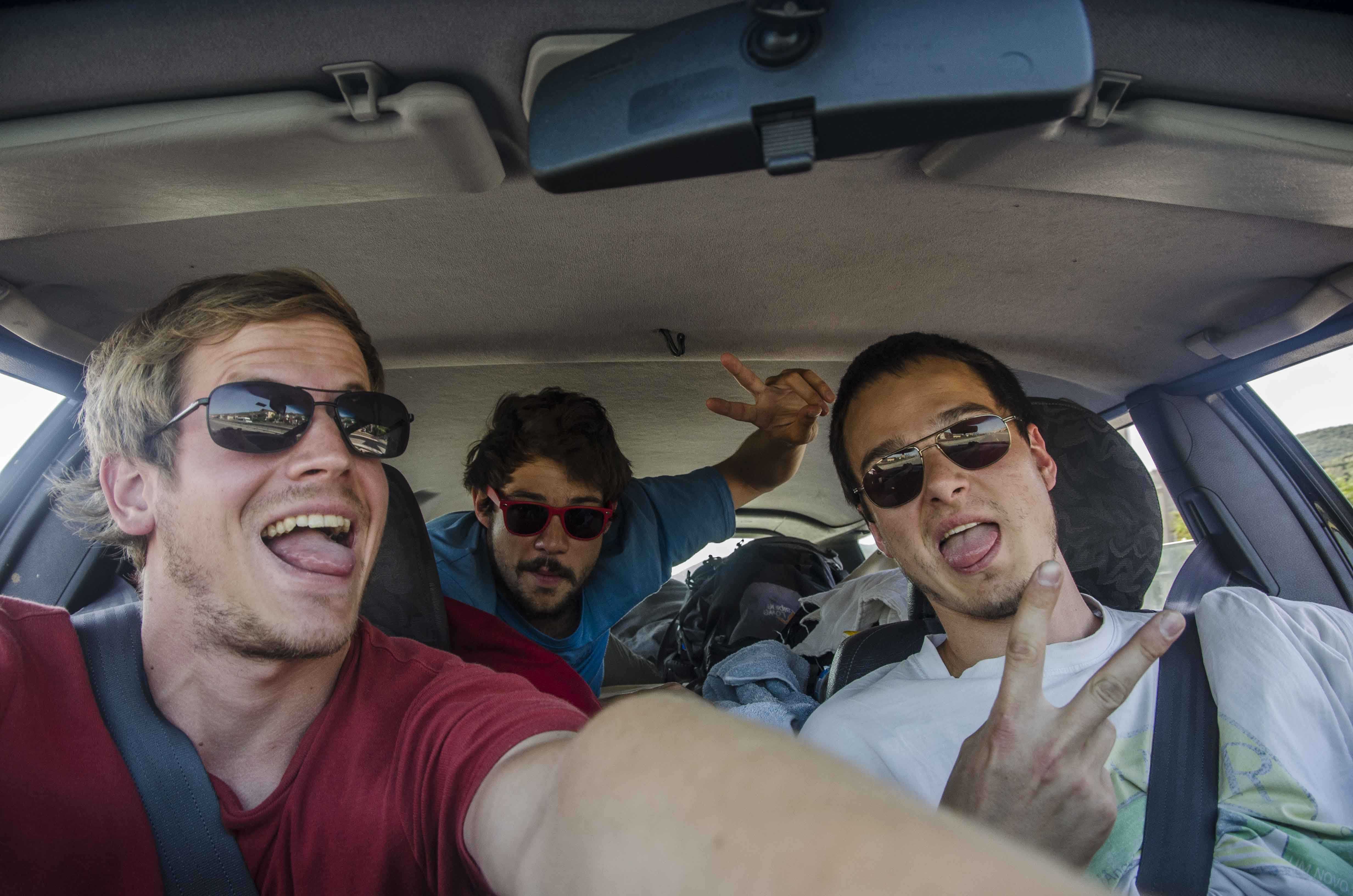 Heading to the black sea in the bed-car with Tobias and Bernt