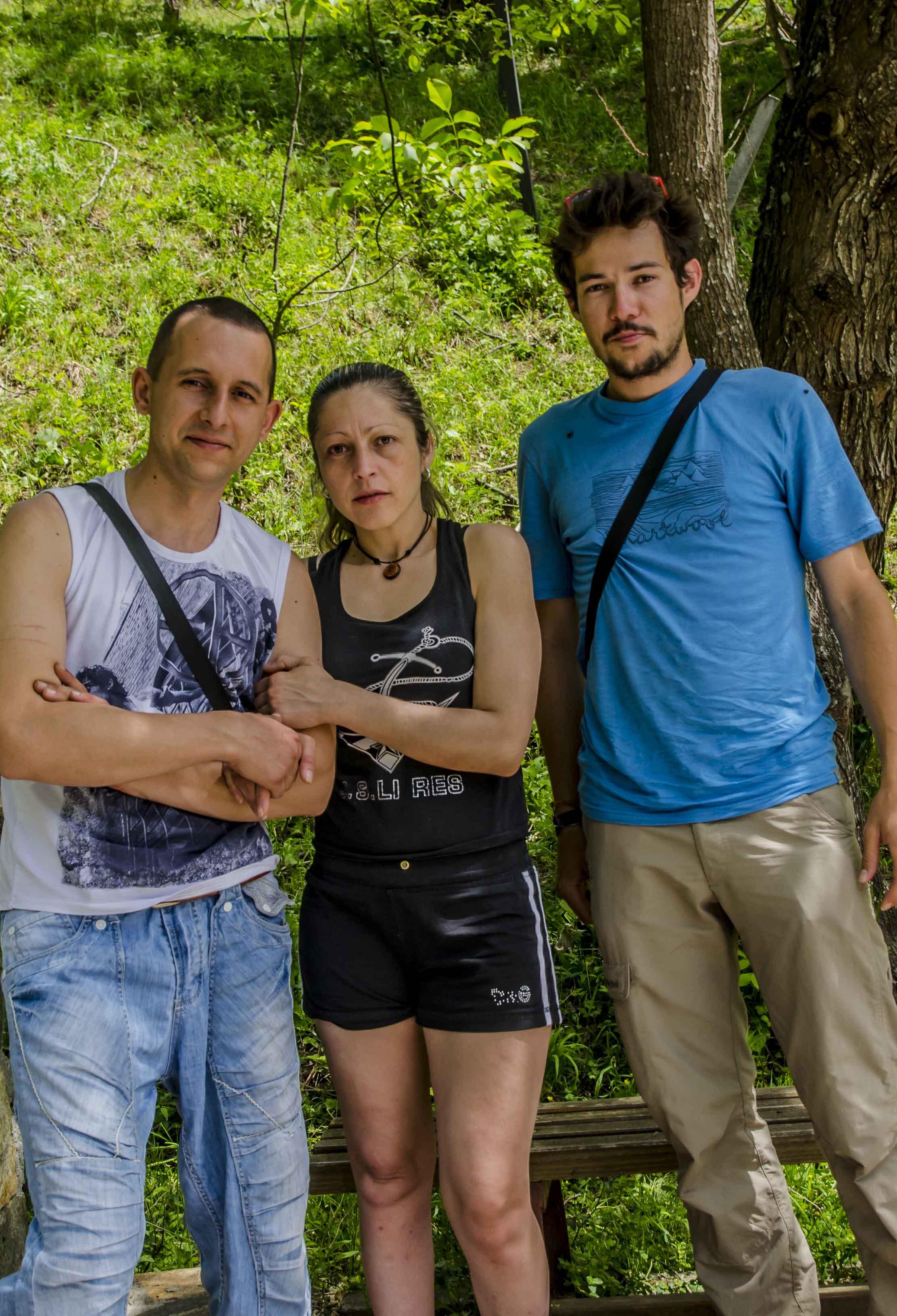 With Nikos and his wife in Kosovo, Bulgaria