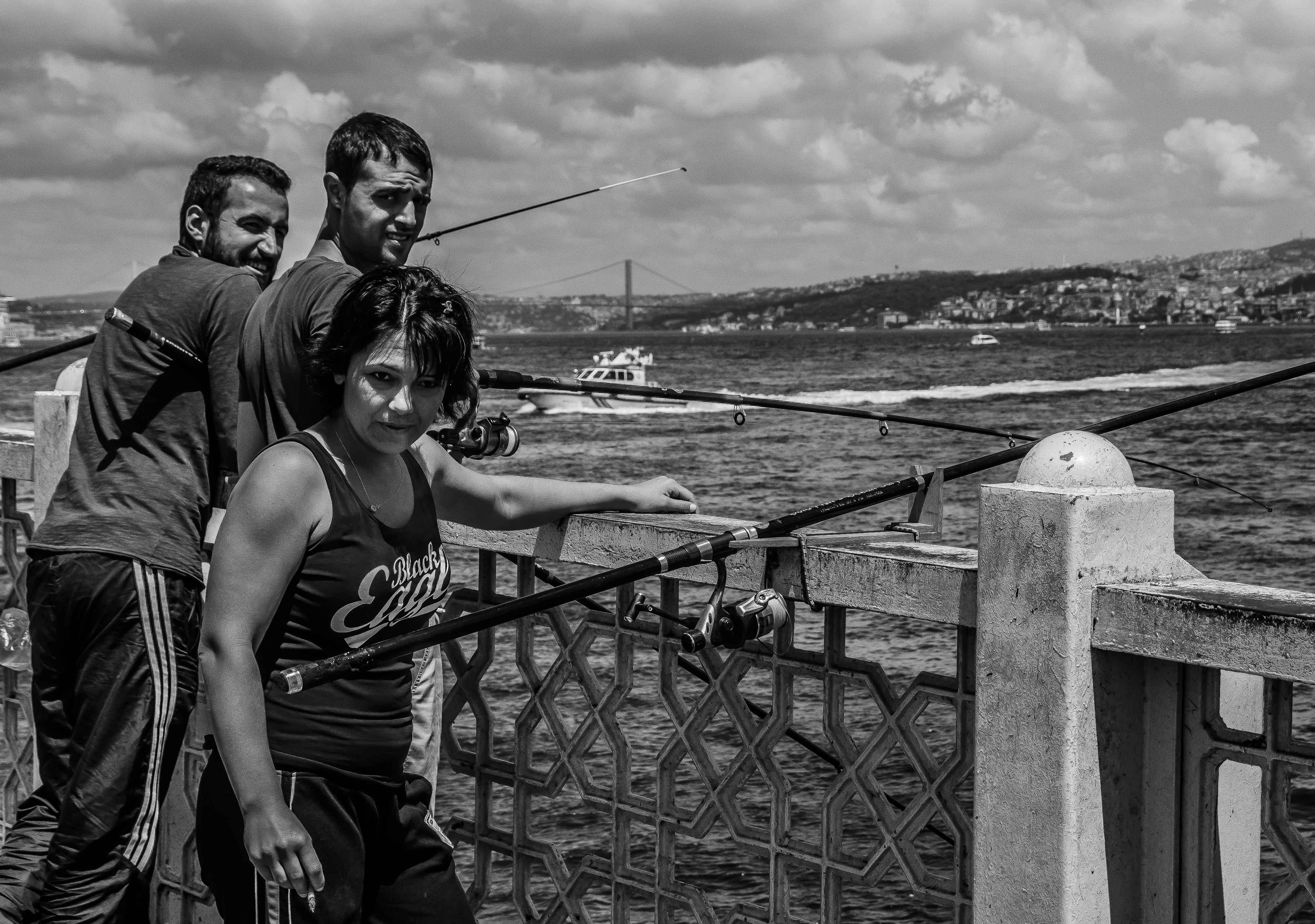 Fishers on galata bridge
