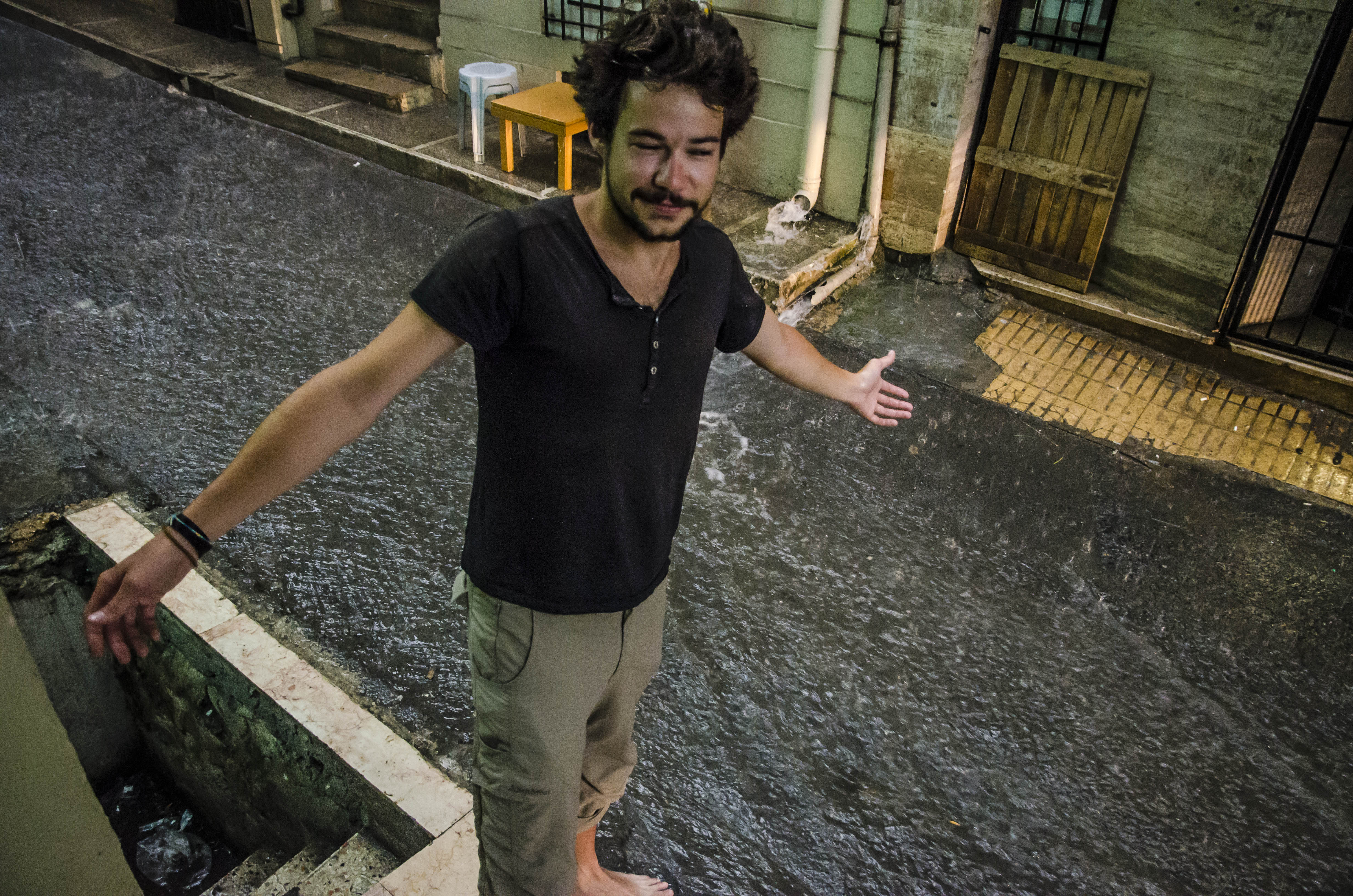 Galata West hostel, and the rain came