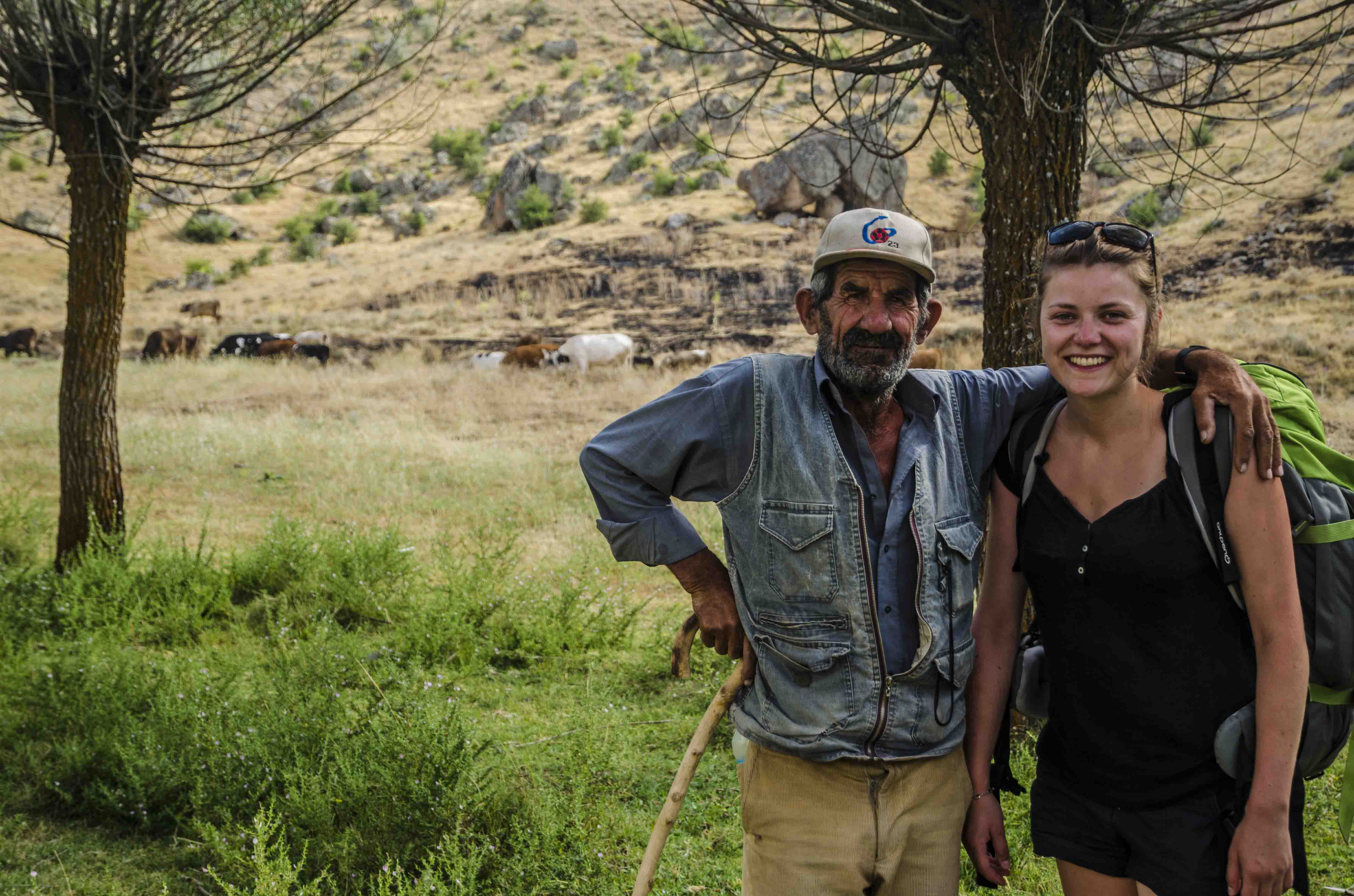 Marie and a real cow-boy in Ihlara valley